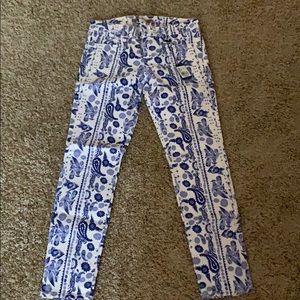 Rebecca Minkoff blue/white denim jeans NWT size 28